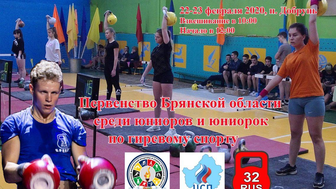 Первенство Брянской области по гиревому спорту