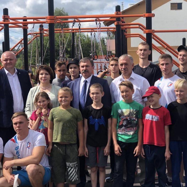 Торжественное открытие малой спортивной площадки ГТО в Жирятино