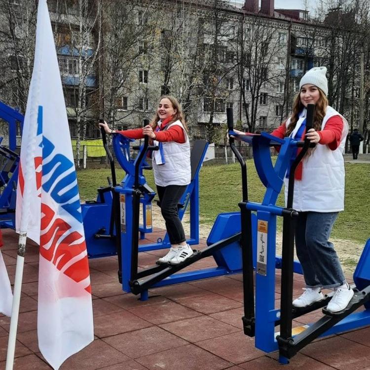 Торжественное открытие малой спортивной площадки ГТО в г. Унеча
