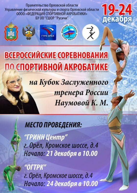 Итоги Всероссийских соревнований по спортивной акробатике «Кубок ЗТР К.М. Наумовой»