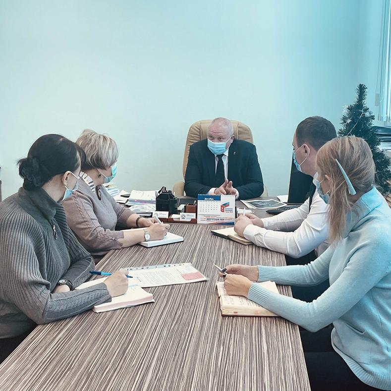 Рабочее совещание с главой администрации города Фокино.