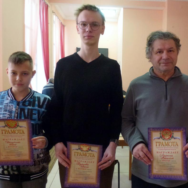 Итоги Чемпионата Брянской области по шашкам