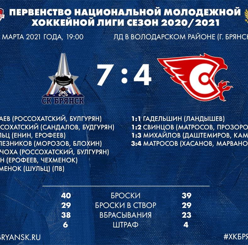 Итоги матча Всероссийских соревнований по хоккею