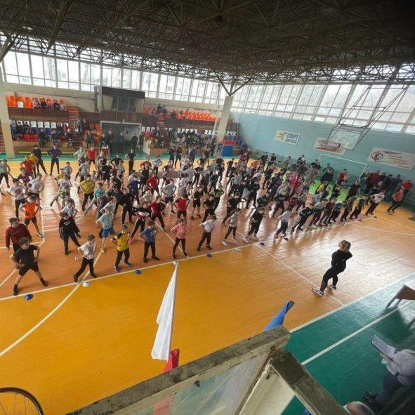 Зарядка с чемпионом, в рамках ВФСК ГТО в Дятьковском районе