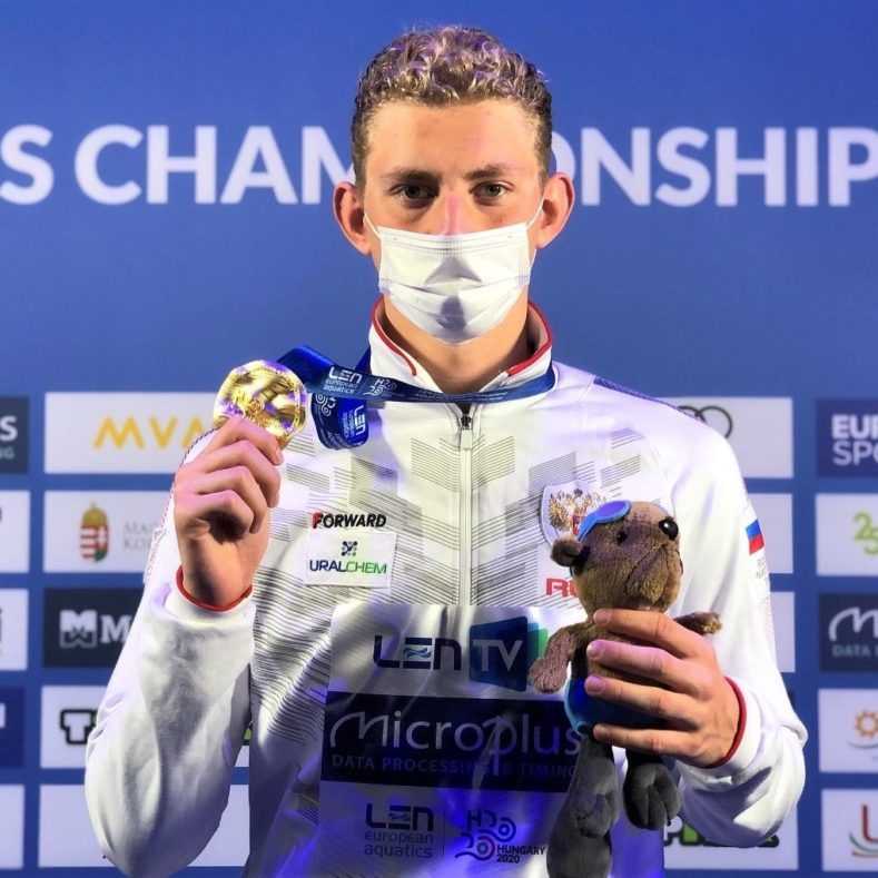 Золото на Чемпионате Европы по плаванию!