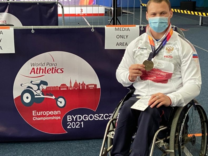 Хрупин Александр Чемпион Европы в толкании ядра