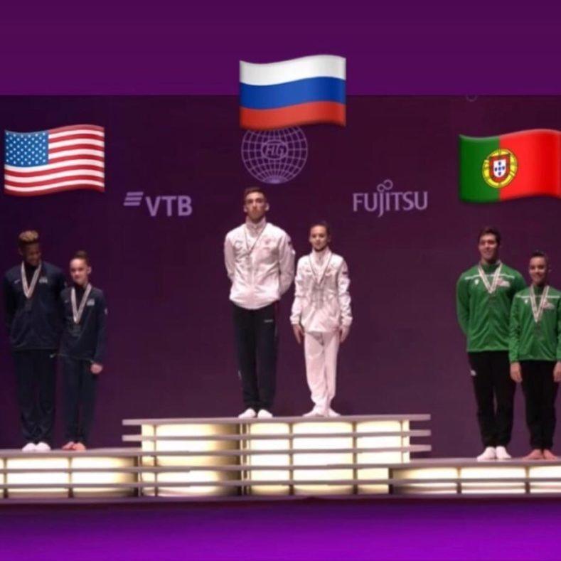 Золото на Первенстве мира по спортивной акробатике!