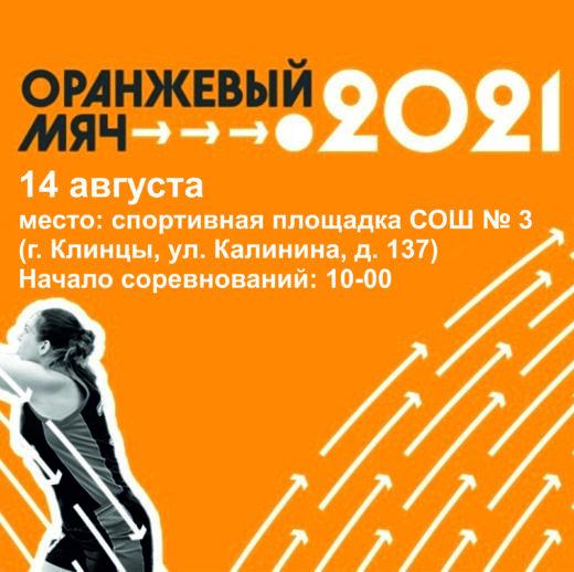 Региональный этап Всероссийских массовых соревнований по баскетболу «Оранжевый мяч» в Брянской области 2021 г.