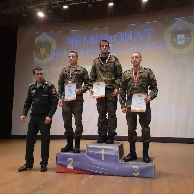 Золото на Чемпионате Западного военного округа по гиревому спорту