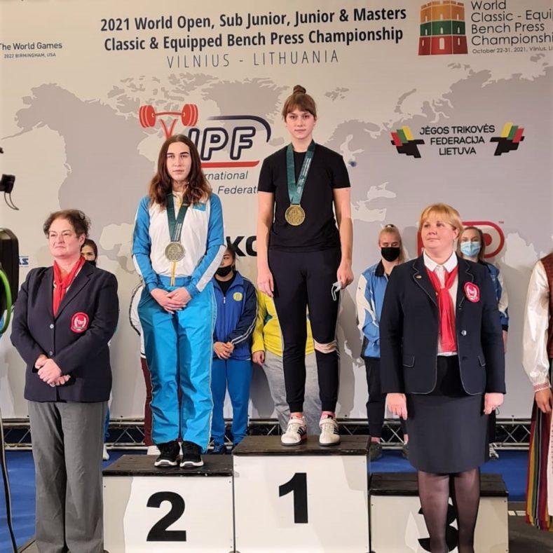Золото и два серебра на Чемпионате и Первенстве Мира по пауэрлифтингу!